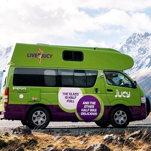 Jucy Chaser Camper huren Nieuw-Zeeland
